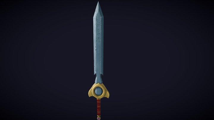 Hand painted Sun Sword 3D Model