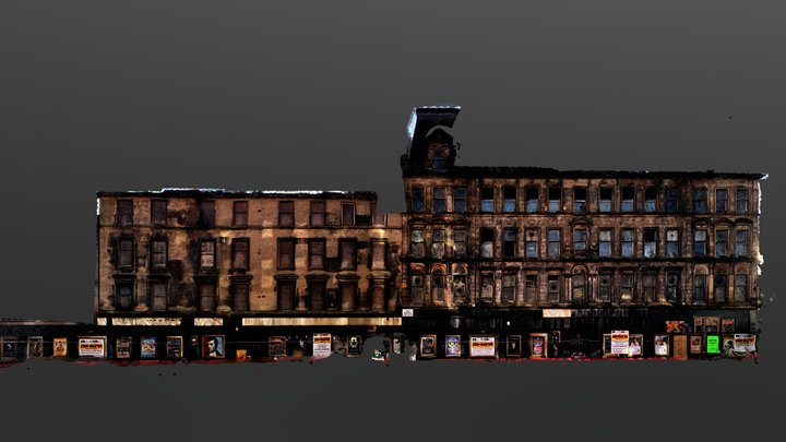 Glasgow Argyle Street Building 3D Model