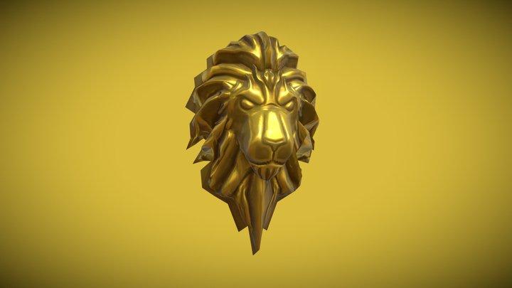 Proptober Day 12: Gold Lion Head 3D Model
