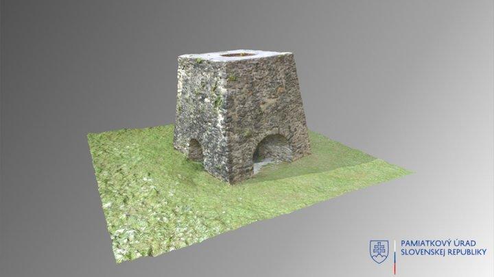 Ľubietová - Ruina vysokej pece 3D Model