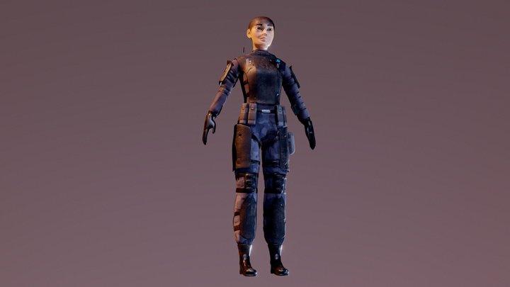 Character - Commando 3D Model