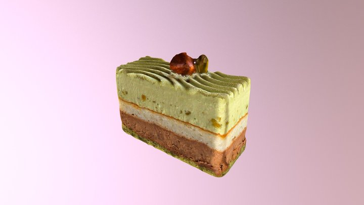 Pistachio Dessert 3D Model