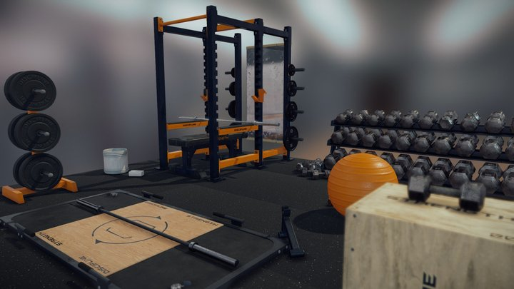 The Essential Weight Lifting Set 3D Model