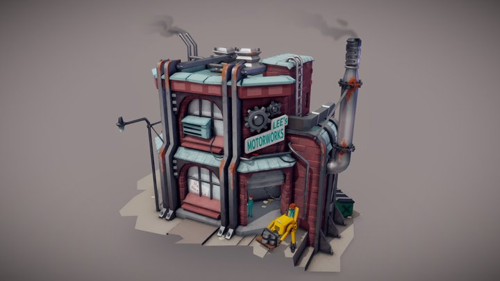 Lee's Motorworks 3D Model