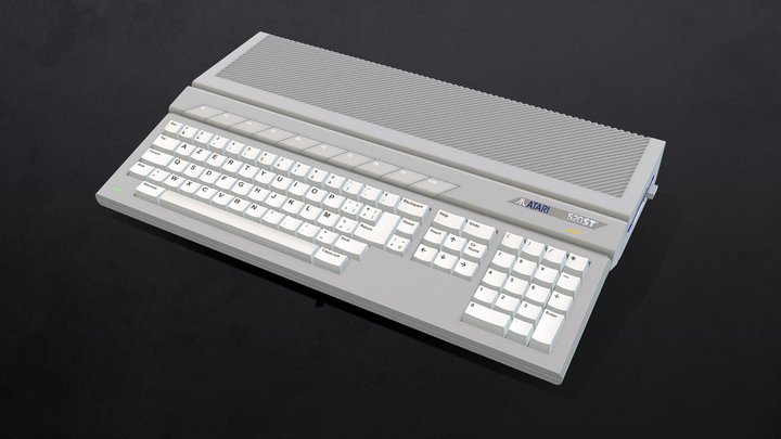 ordinateur ATARI 520Ste 3D Model