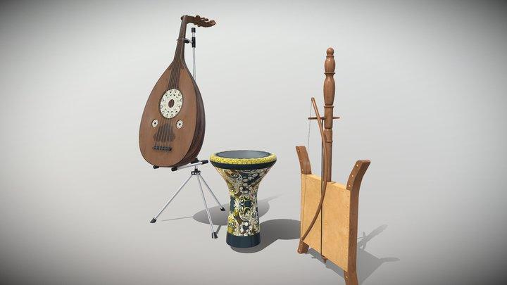 arabian musical instruments 3D Model