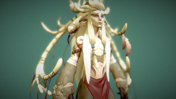 Forest spirit fanart 3D Model