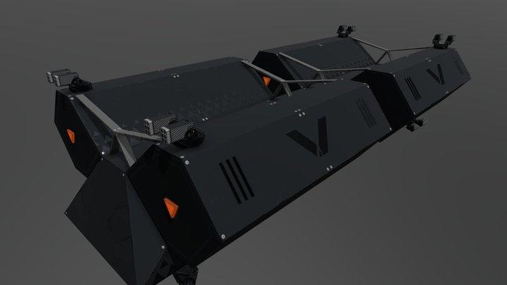Neon Exile - VERMin Drop Ship 3D Model