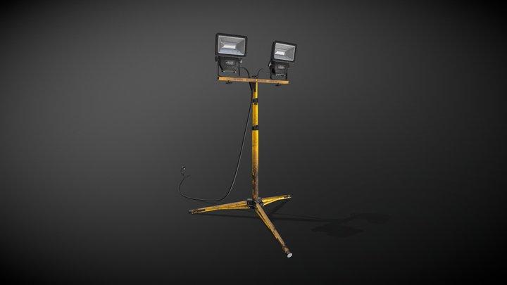 Industrial Work Light 3D Model