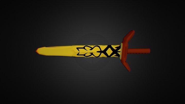 rave master blast sword 3D Model