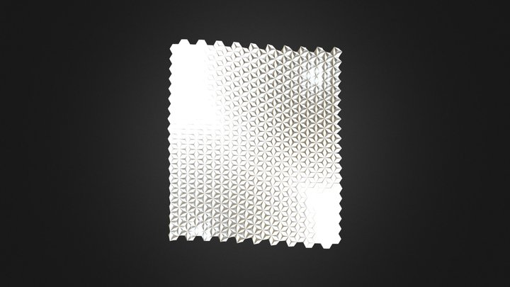 Flores hexagono superficie 3D Model