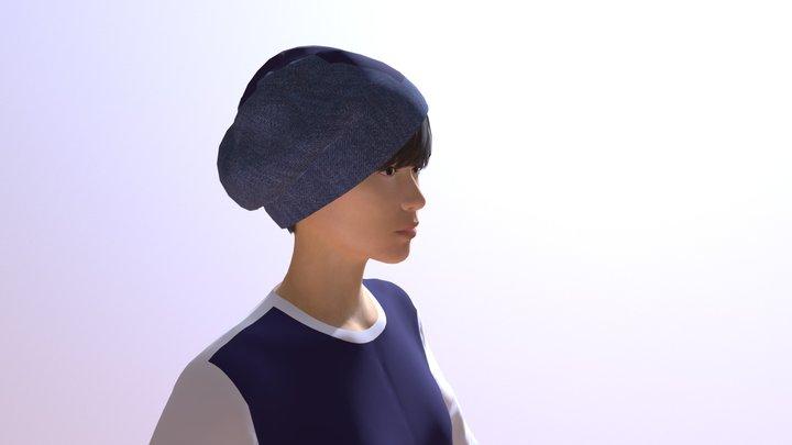8枚ハギベレー帽デザイン 3D Model
