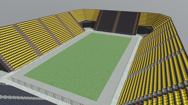 Prosty Stadion Probka 3D Model