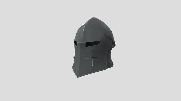 Medieval Helmet Baked 3D Model