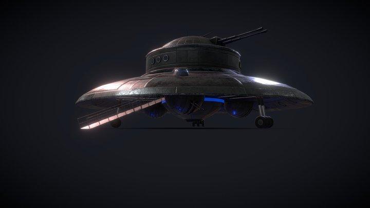 German WW2 UFO 3D Model
