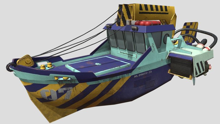 Flying Barge 3D Model