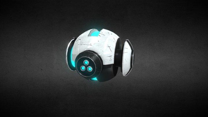 Sci-Fi Recon Drone 3D Model