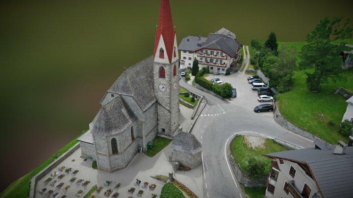 South Tyrol Church 3D Model