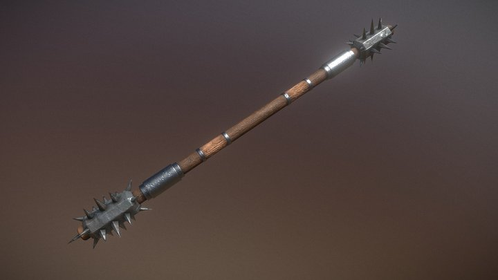 Double sided Mace/Staff 3D Model