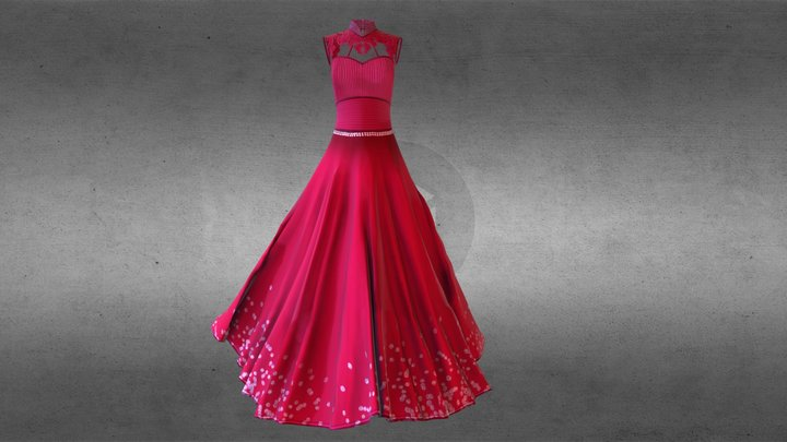 Dress1 Top2 Complete 3D Model