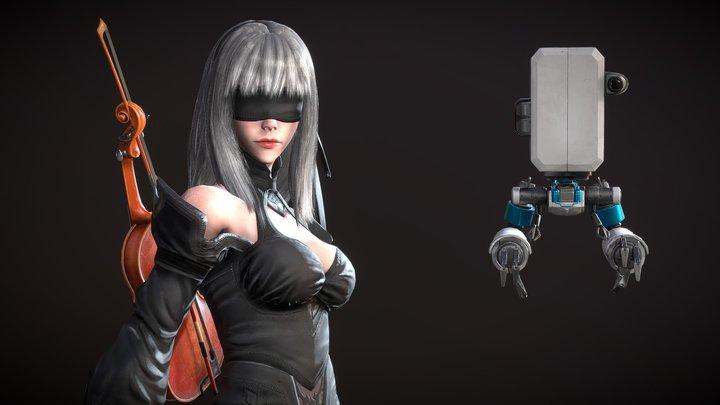 10E, The Violinist 3D Model