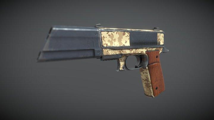Military Game Gun 3D Model