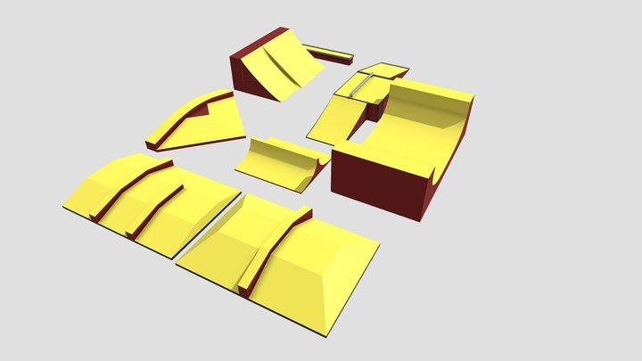 Skate Park modules 3D Model