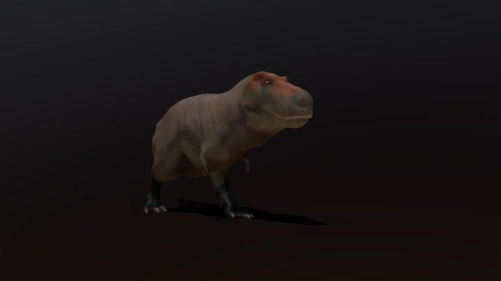 Tyrannosaurus rex Walk Cycle 3D Model