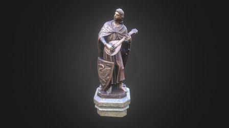 Statue of Hiltepold of Schwangau 3D Model