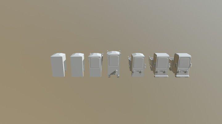 Project Two Truck Stylized Truck Hero Asset 3D Model