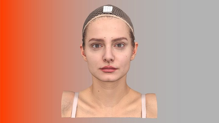 Lucy Evans Raw 3D Head Scan 3D Model