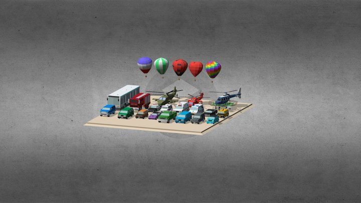 Low poly Transport 3D Model