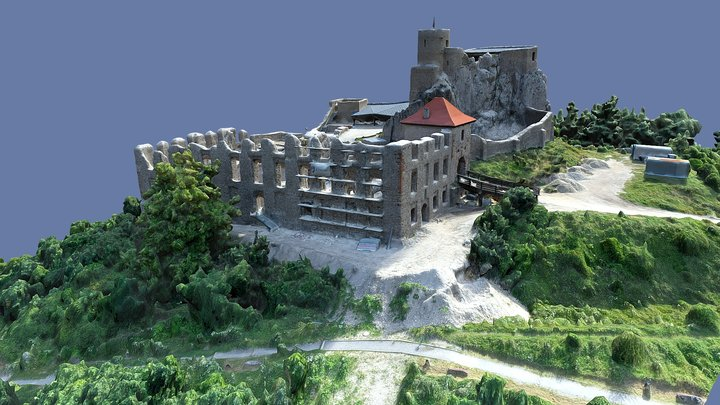 riuns of Rabsztyn castle base on A.S pictures 3D Model