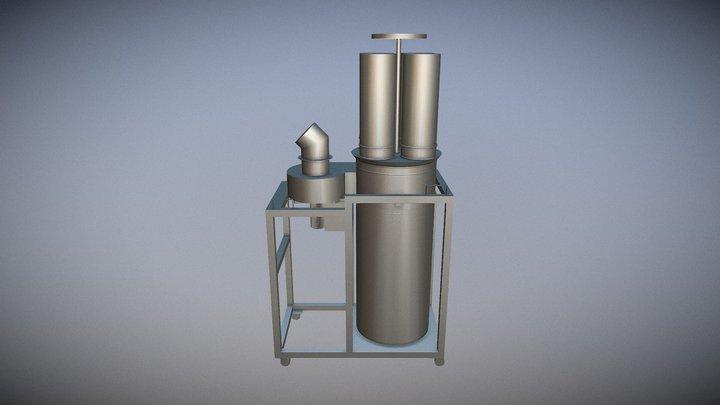 Coletor De Pó Industrial Modelo HT 3D Model