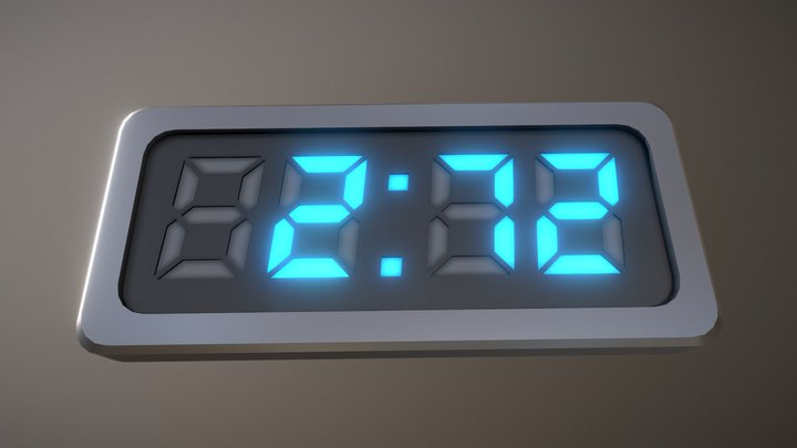 Video Countdown 5-4-3-2-1 (Simple) 3D Model