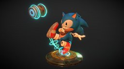 Sonic FanArt 3D Model
