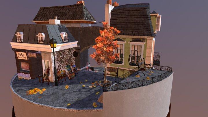 CityScene_Annecy 3D Model