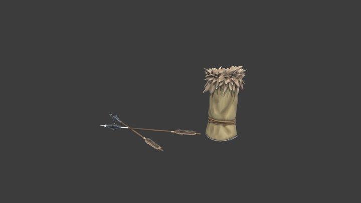 Archery Assets 3D Model