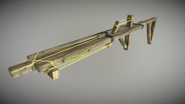 Handmade Elastic Gun 3D Model