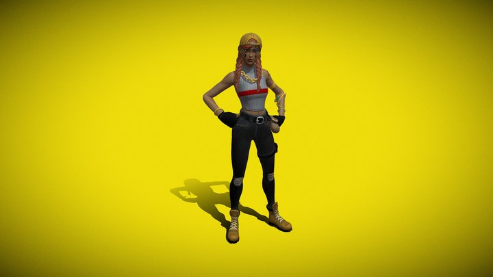 Fortnite Aura 3D Model
