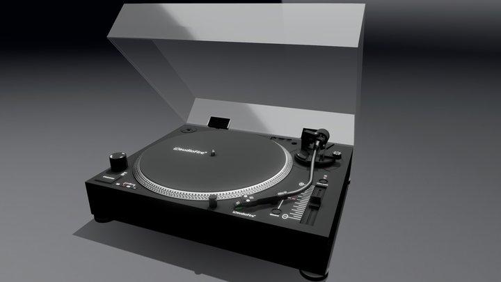 Stereo Turntable (Black) 3D Model