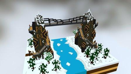 """Dwarfs call it """"Golden Gate"""" 3D Model"""
