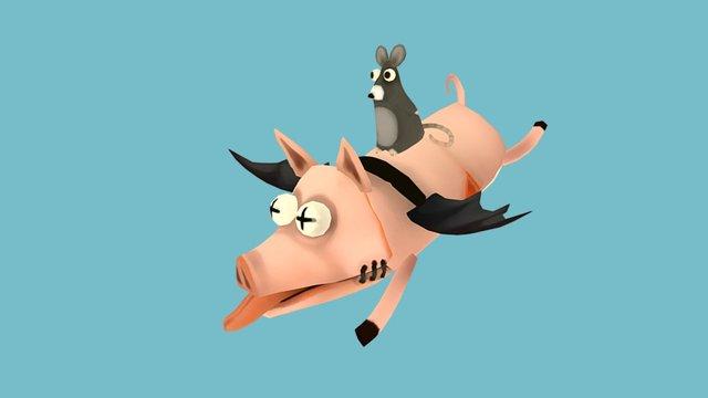 Rat And Pig 3D Model