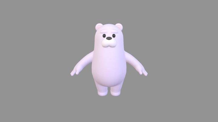 Polar Bear Character 3D Model