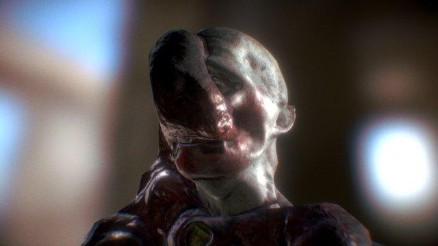 Alien Infected Corpse 3D Model