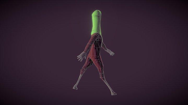 Animation - Walk - Azalaï 3D Model