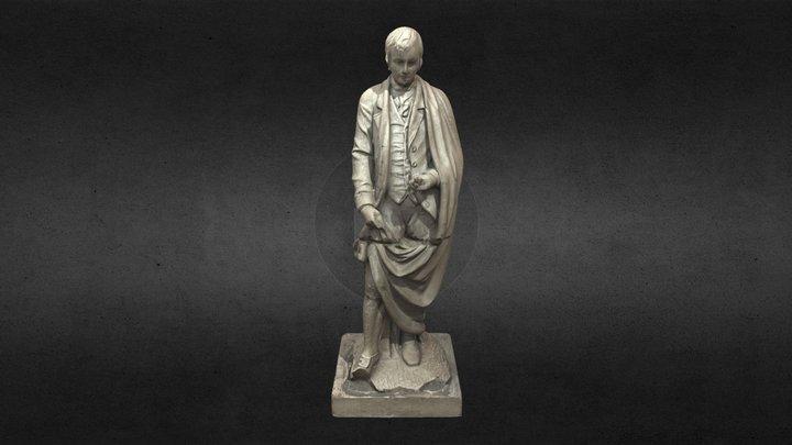Burns Statue 3D Model