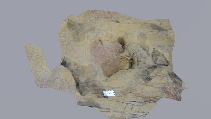 PRAIA SANTA ORNITHOPOD TRACK -V. BISPO, PORTUGAL 3D Model