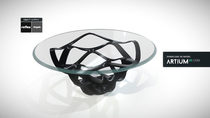 Dining table Neolitico 72 Verto - Reflex Angelo 3D Model