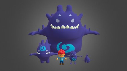 Just Pretend - Hero and Gloomies 3D Model